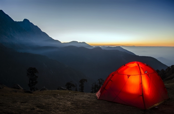 3 Person Tent in the Mountains